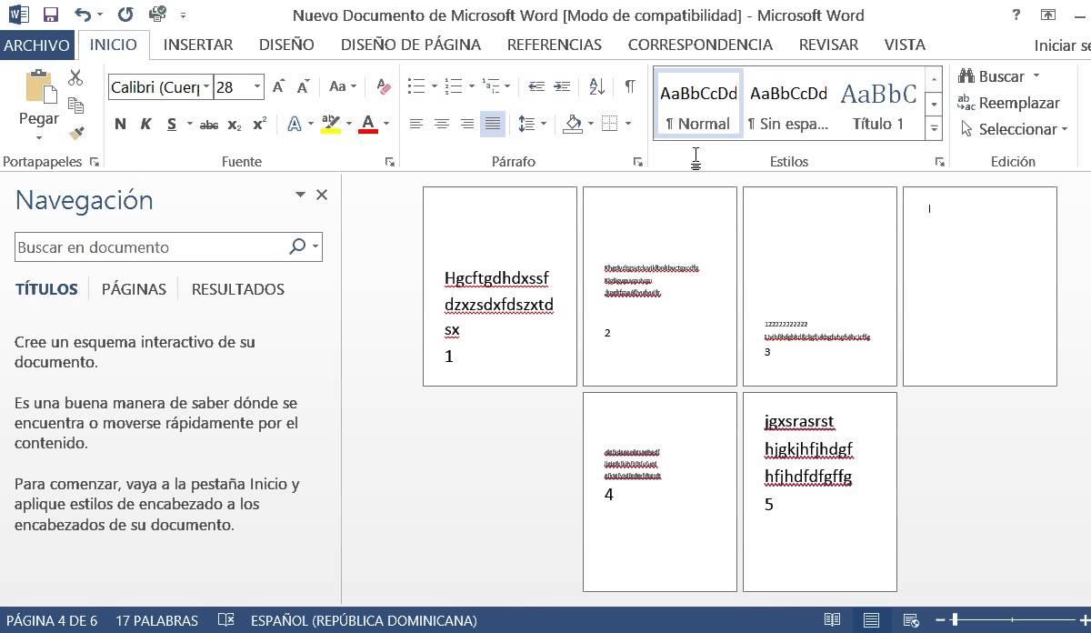 como-eliminar-una-pagina-en-word-2013
